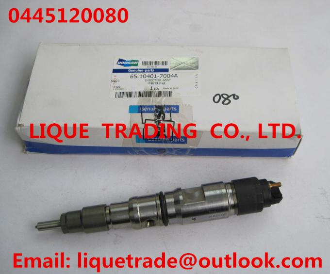 Genuine and New Common rail injector 0445120080 for DAEWOO DOOSAN DL06S 65.10401-7004A