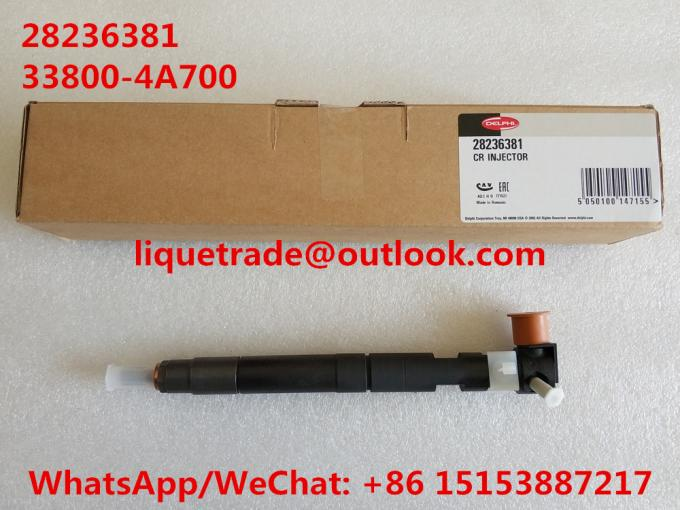 DELPHI Original and New Common rail injector 28236381 for HYUNDAI Starex 33800-4A700 , 338004A700