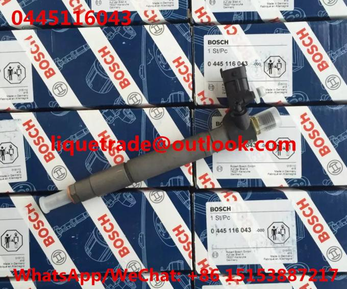BOSCH INJECTOR 0445116043 GENUINE Common rail injector 0 445 116 043 , 0445 116 043