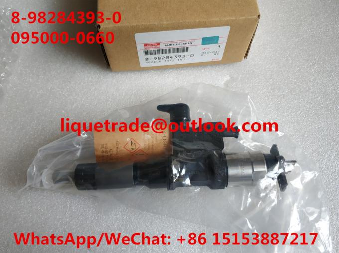 DENSO Common rail injector 8-98284393-0 , 095000-0660 for ISUZU 8982843930