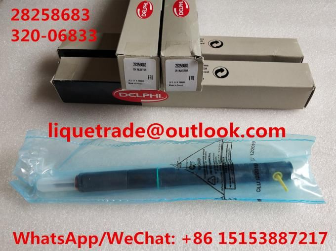 DELPHI Injector 320/06833 , 320-06833 , 32006833 , 320 06833 , 28258683 , original JCB injector for JCB Excavator