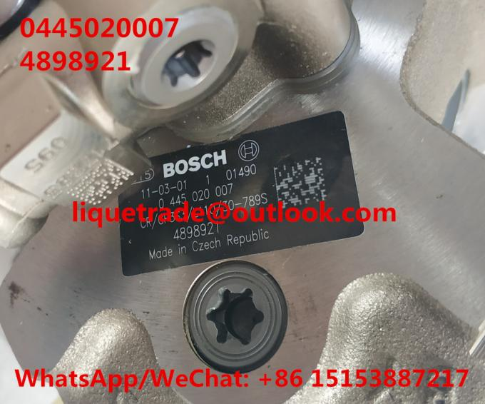 BOSCH Fuel Pump 0445020007, 0 445 020 007, 0445020175 ,Cummins 4897040, 4898921, IVECO 5801382396