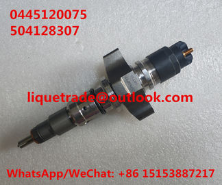 BOSCH Common Rail Injector 0445120075 , 0 445 120 075 for IVECO 504128307, CASE NEW HOLLAND 2855135